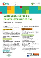 Ösztöndíjas börze és oktatói információs nap, Szeged